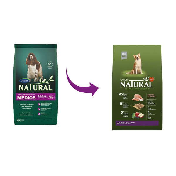 Ração Affinity Guabi Natural Salmão e Cevada para Cães Adultos Raças Média