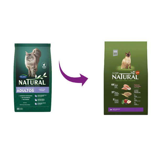 Ração Affinity Guabi Natural Salmão e Cevada para Gato Adulto