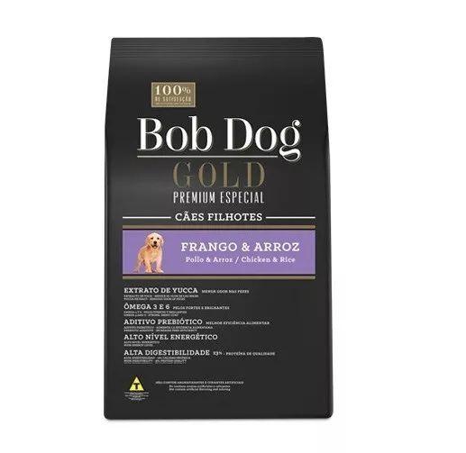 Ração Bob Dog Gold Premium Especial Frango & Arroz para Cães Filhotes