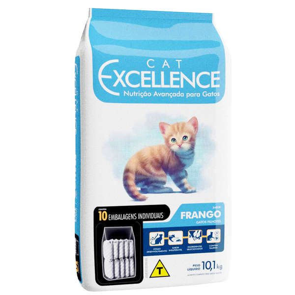 Ração Cat Excellence Frango para Gatos Filhotes