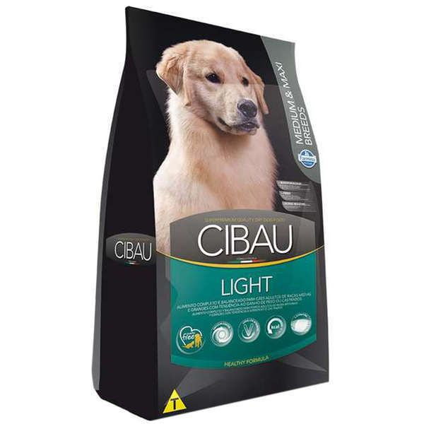 Ração Farmina Cibau Light para Cães Adultos com Tendência Obesidade de Raças Médias e Grandes - 12 Kg