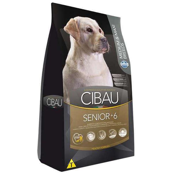 Ração Farmina Cibau Senior +6 para Cães de Raças Médias e Grandes com 6 Anos ou Mais de Idade - 12 Kg