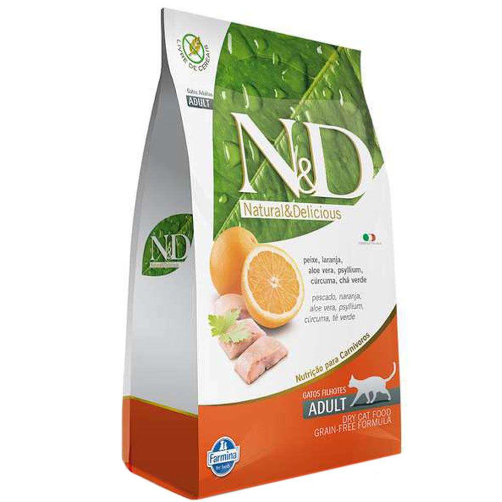 Ração Farmina N&D Grain Free Peixe para Gatos Adultos