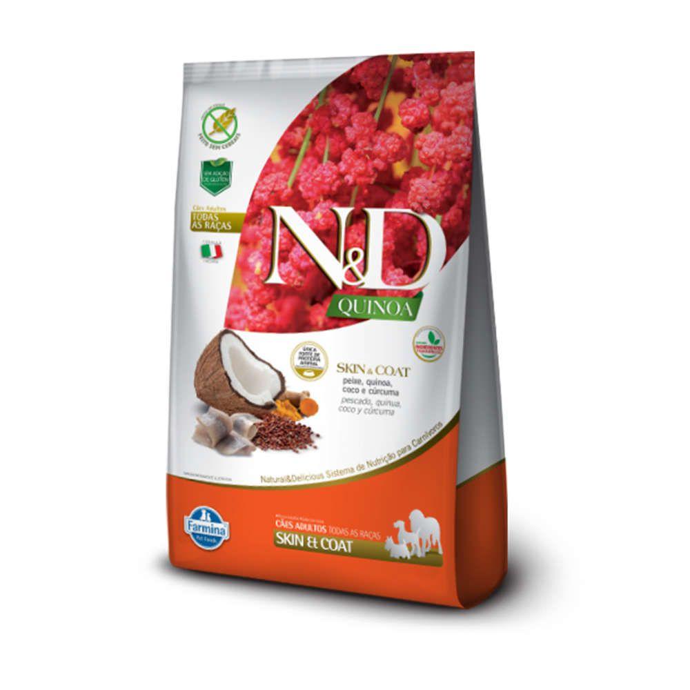 Ração Farmina N&D Quinoa Skin & Coat Peixe para Cães Adultos de Todas as Raças