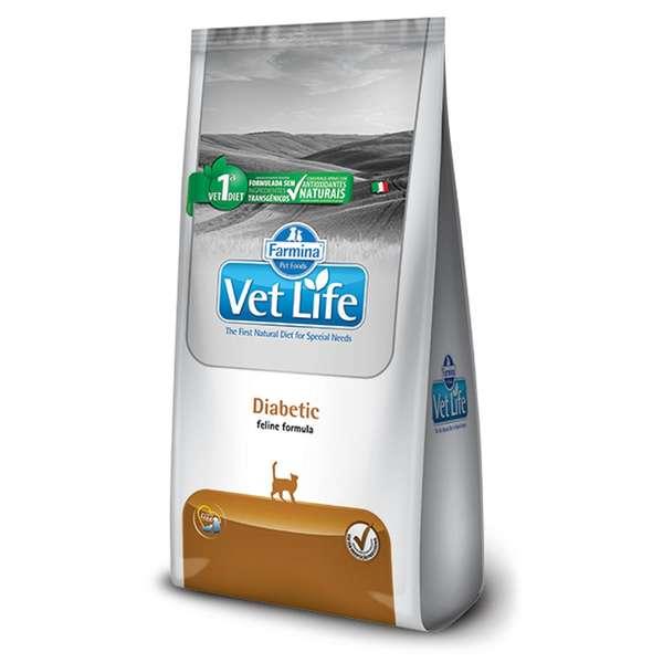 Ração Farmina Vet Life Natural Diabetic para Gatos Adultos Diabéticos