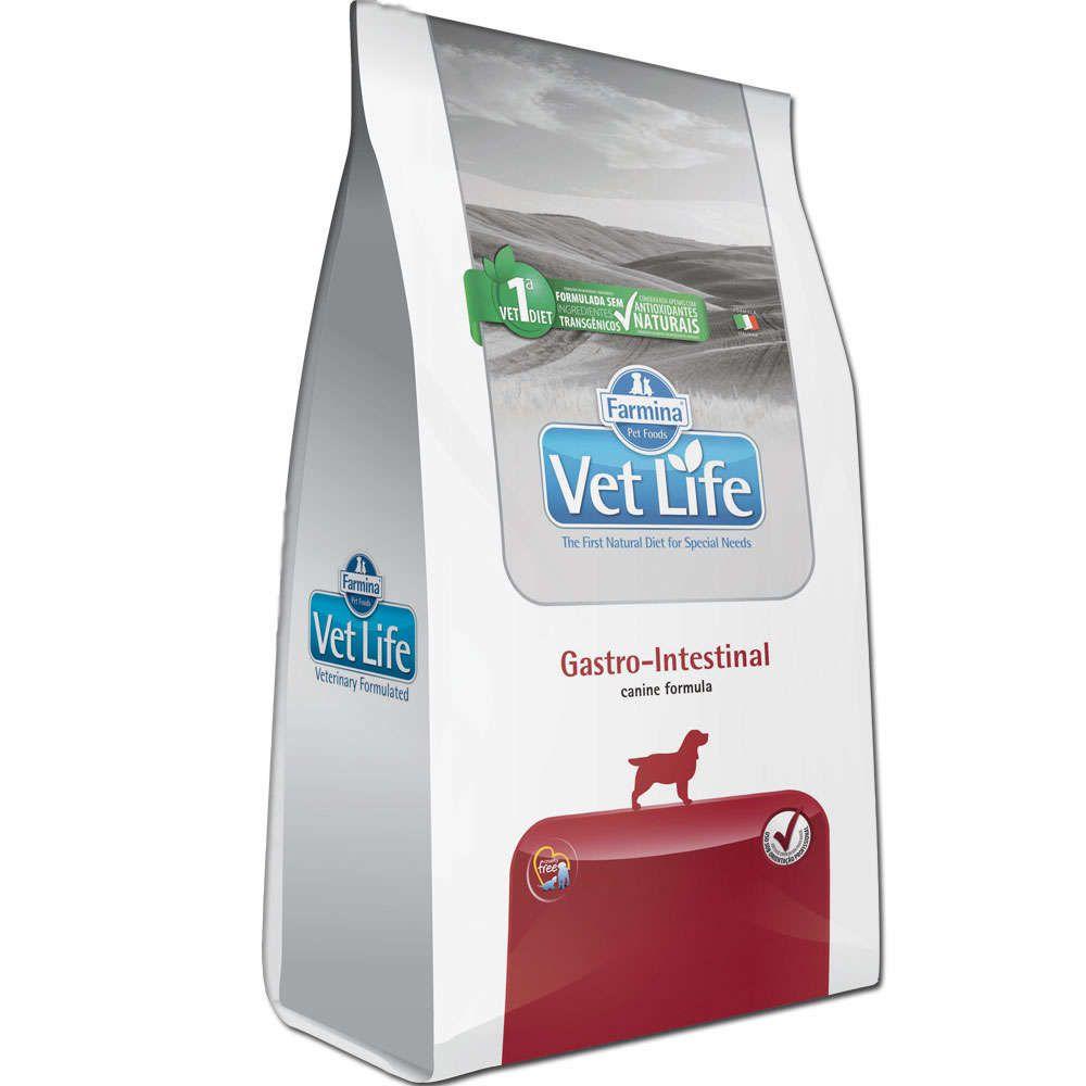 Ração Farmina Vet Life Natural Gastro-Intestinal para Cães Adultos com Distúrbios Intestinais
