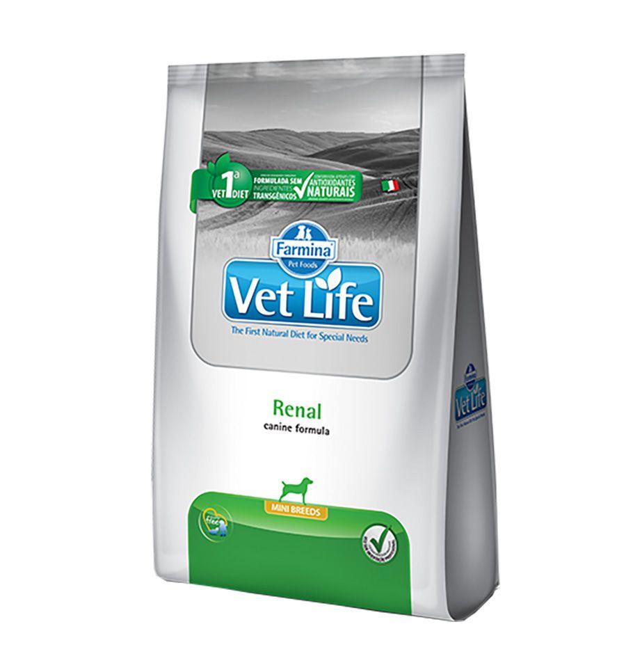 Ração Farmina Vet Life Natural Renal para Cães de Raças Pequenas com Insuficiência Renal