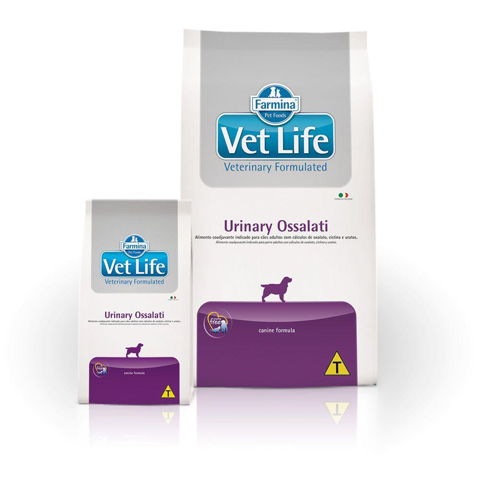 Ração Farmina Vet Life Natural Urinary Ossalati para Cães Adultos com Cálculos Urinários
