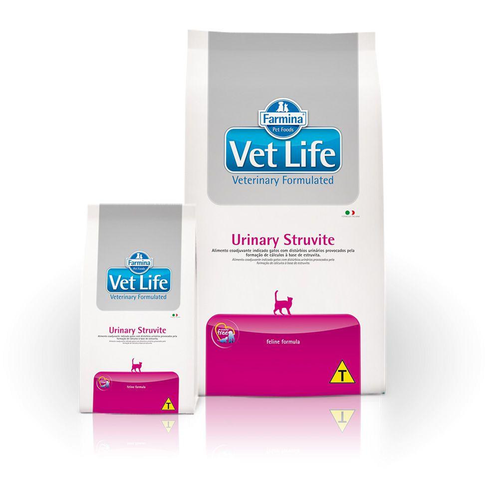 Ração Farmina Vet Life Natural Urinary Struvite para Gatos Adultos com Distúrbios Urinários