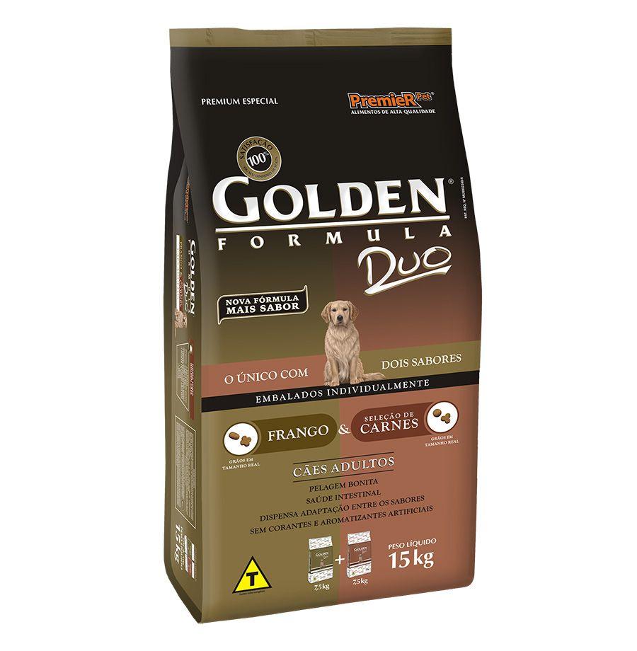 Ração Golden Formula DUO Frango e Carne para Cães Adultos - 15 Kg