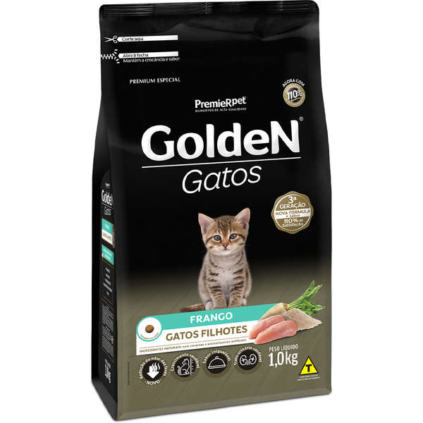 Ração Premier Golden Frango para Gatos Filhotes