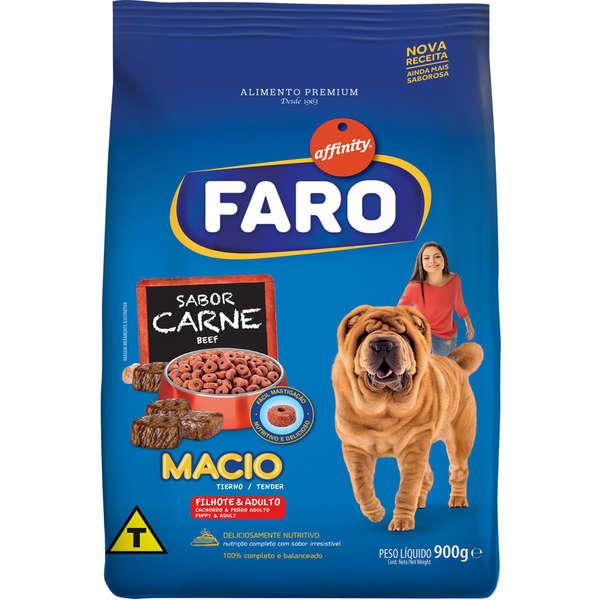 Ração Guabi Affinity Faro Macio Sabor Carne - 900 g