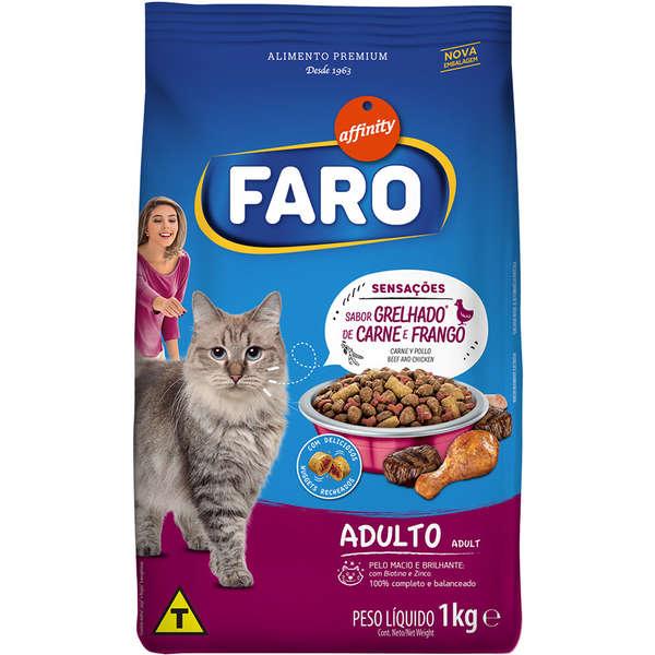 Ração Guabi Affinity Faro Sensações Grelhado de Carne e Frango para Gatos Adultos
