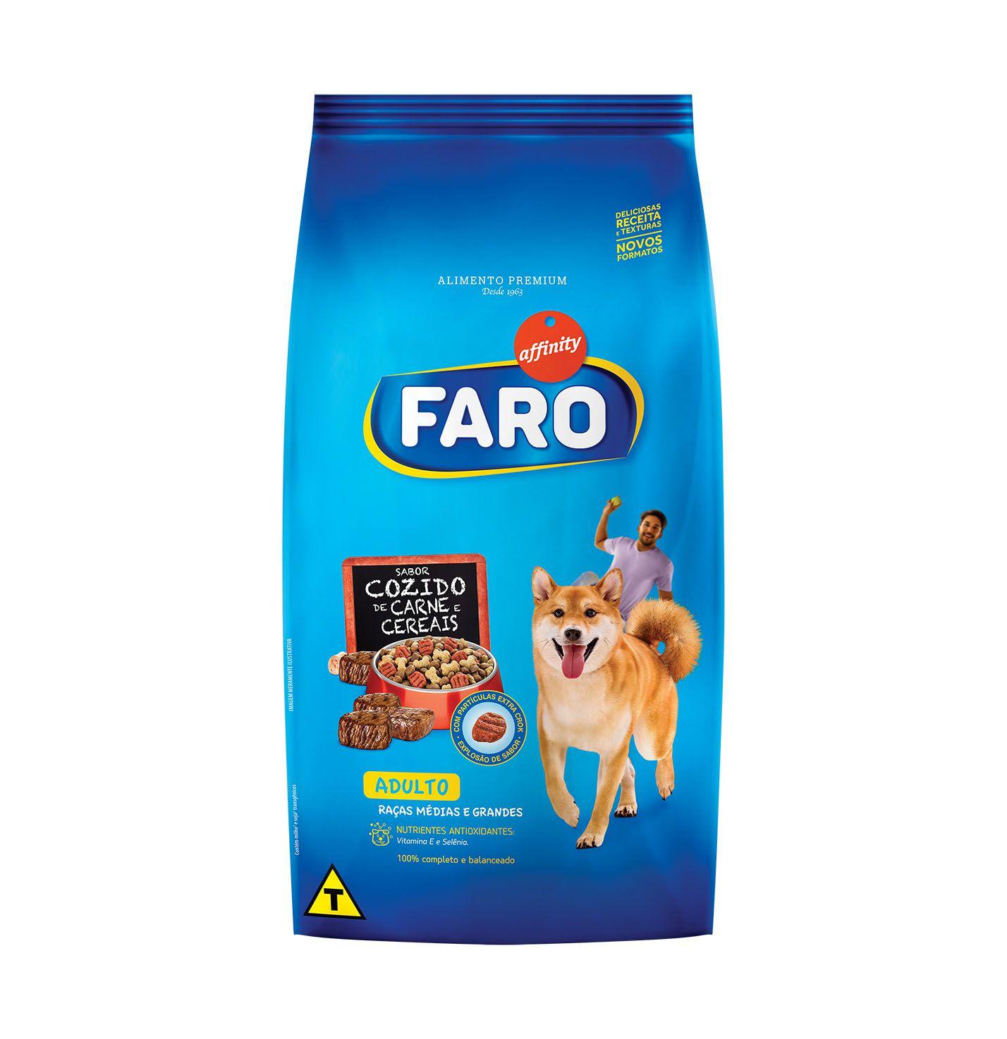 Ração Guabi Affinity Faro Cozido de Carne, Fígado e Cereais para Cães Adultos de Raças Pequenas