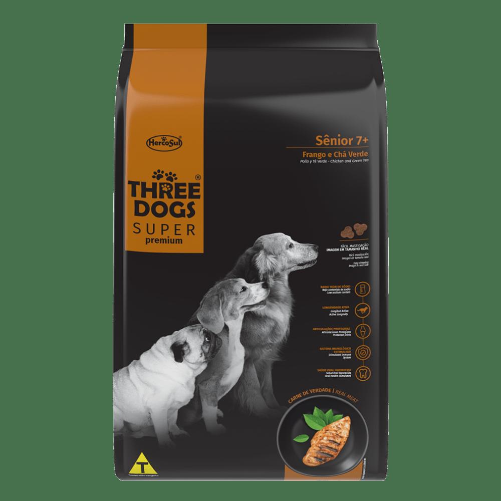 Ração Hercosul Three Dogs Especial Senior 7+ para Cães