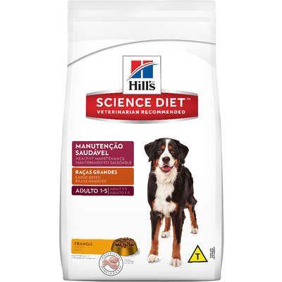Ração Hills Science Diet Manutenção Saudável para Cães Adultos de Raças Grandes - 15 kg
