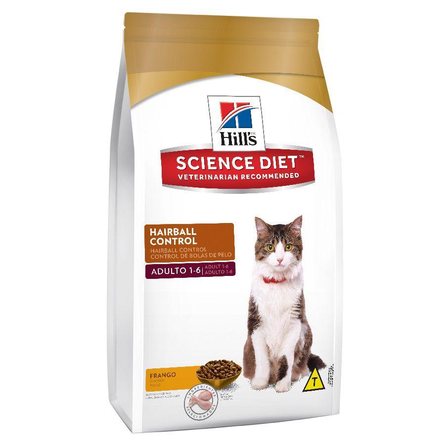 Ração Hills Science Diet Controle de Bolas de Pelo para Gatos Adultos - 1,5 kg