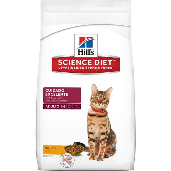 Ração Hills Science Diet Feline Frango Cuidado Excelente para Gatos Adultos