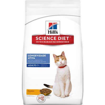 Ração Hills Science Diet Feline Longevidade Ativa 7+ para Gatos Adultos Acima de 7 Anos