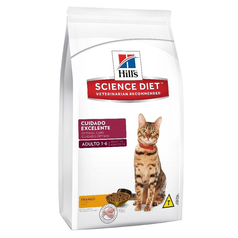 Ração Hills Science Diet Frango Cuidado Excelente para Gatos Adultos