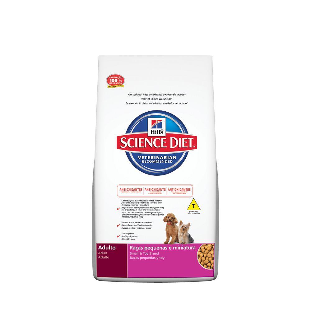 Ração Hills Science Diet Canino Adulto Raças Pequenas e Miniaturas