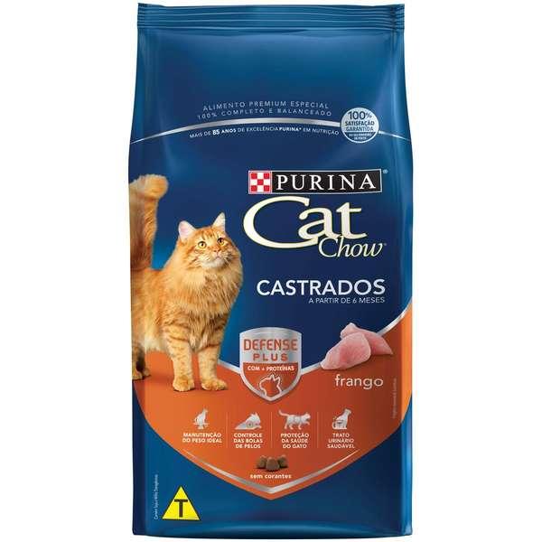 Ração Nestlé Purina Cat Chow para Gatos Castrados