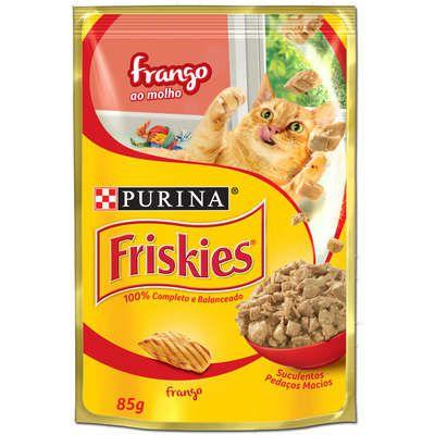 Ração Nestlé Purina Friskies Sachê Frango ao Molho para Gatos 85g