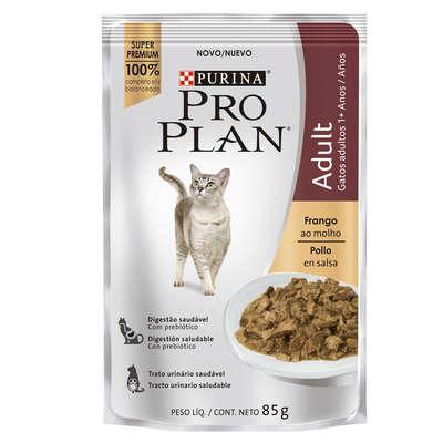 Ração Nestlé Purina Pro Plan Cat Wet Sachê Frango ao Molho para Gatos 1 + Adultos 85 g