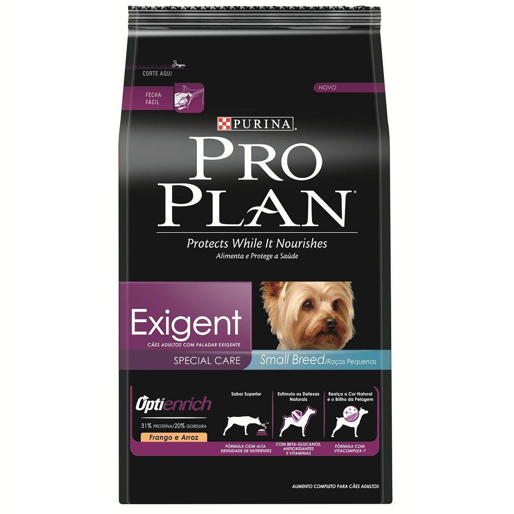 Ração Nestlé Purina Pro Plan OptiEnrich Exigent Cuidado Especial para Cães Adultos de Raças Pequenas