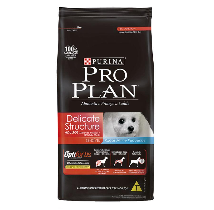 Ração Nestlé Purina Pro Plan OptiFortis Delicate Structure para Cães Adultos de Raças Mini e Pequenas