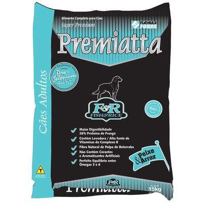 Ração Premiatta Nutri Care Fish & Rice para Cães Adultos 15 KG