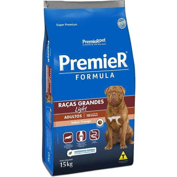 Ração Premier Formula Light Frango para Cães Adultos de Raças Grandes - 15 kg