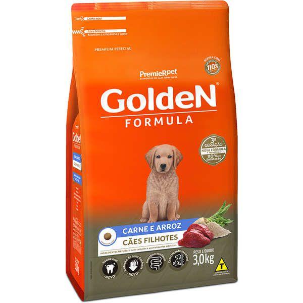 Ração Premier Golden Formula Carne e Arroz para  Cães Filhotes