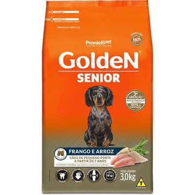 Ração Premier Golden Formula Sênior Mini Bits Frango e Arroz para Cães Adultos Acima de 7 Anos de Raças Pequenas