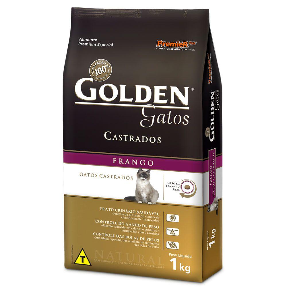 Ração Premier Golden Frango para Gatos Adultos Castrados