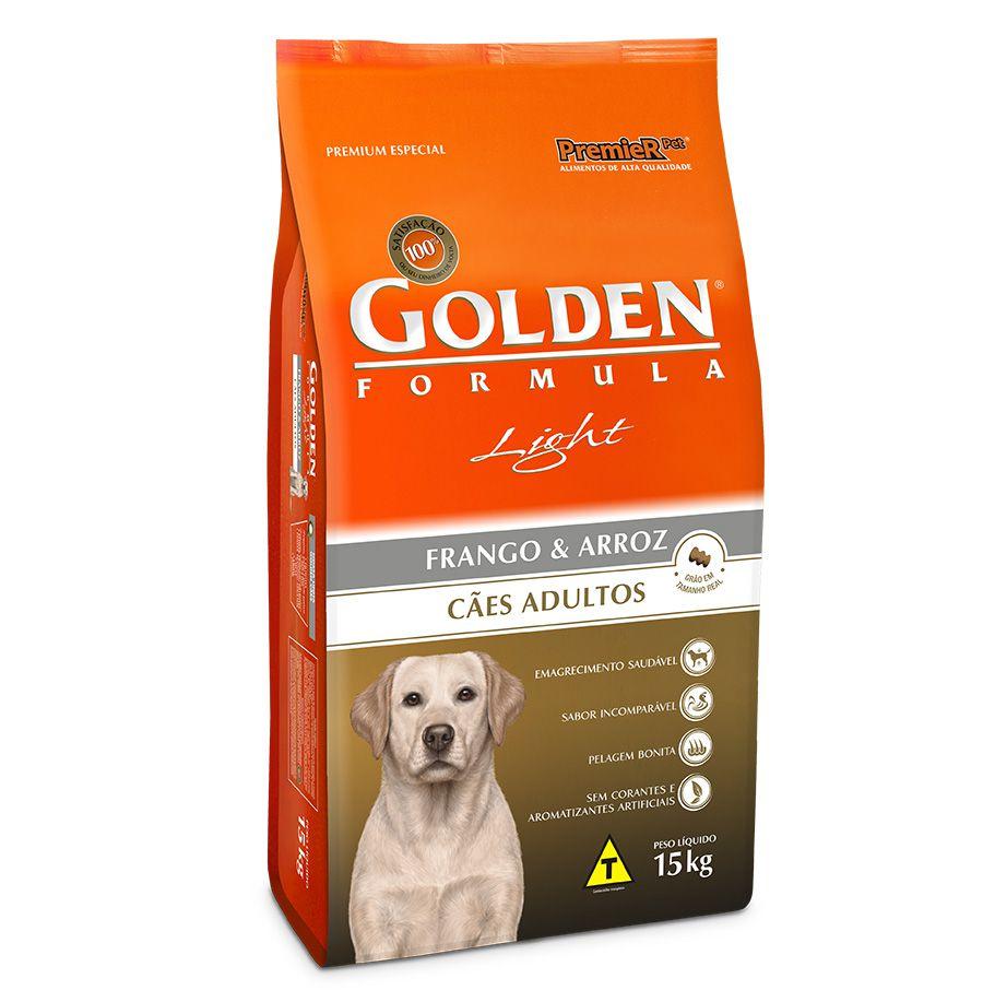 Ração Premier Golden Formula Light Frango e Arroz para Cães Adultos de Raças Médias e Grandes - 15 Kg