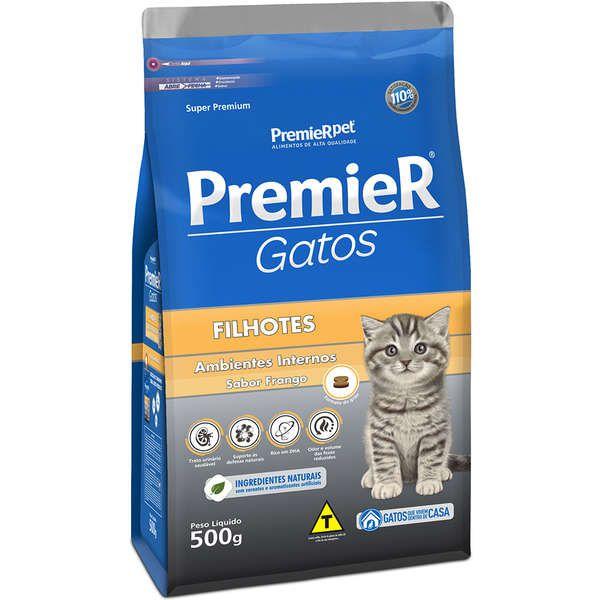 Ração Premier Pet Ambientes Internos Frango para Gatos Filhotes
