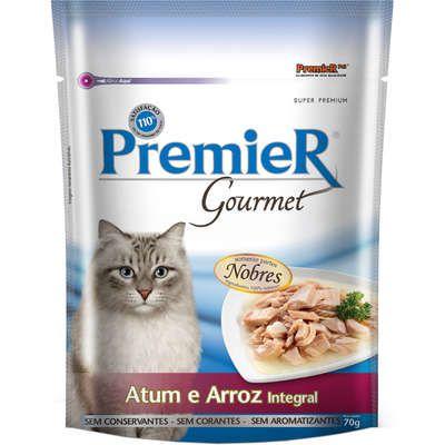 Ração Premier Pet Gourmet Sachê Atum para Gatos Adultos 70 g