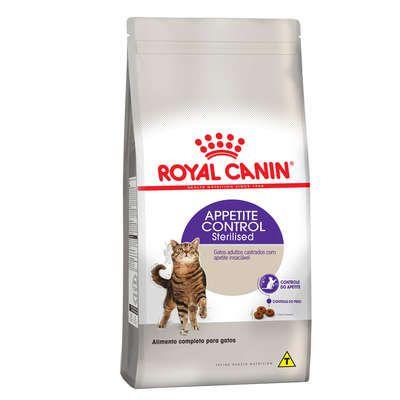 Ração Royal Canin Feline Health Nutrition Sterilised Appetite Control para Gatos Castrados Adultos