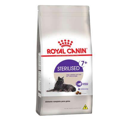 Ração Royal Canin Feline Health Nutrition Sterilised para Gatos Castrados Idosos Acima de 7 Anos de Idade