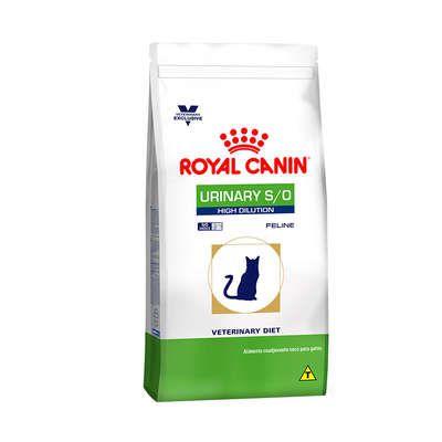 Ração Royal Canin Feline Veterinary Diet Urinary S/O High Dilution