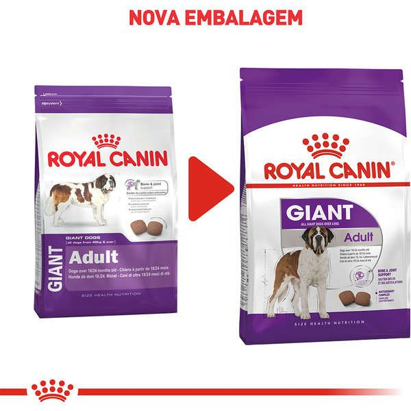 Ração Royal Canin Giant para Cães Gigantes Adultos ou Idosos de 18/24 Meses de Idade - 15 Kg