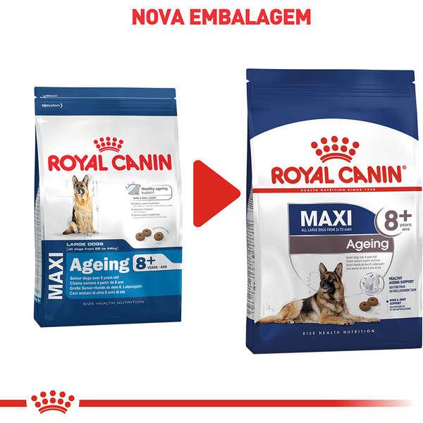 Ração Royal Canin Maxi Ageing 8+ para Cães Adultos de Raças Grandes Idosos com 8 Anos ou mais - 15 Kg
