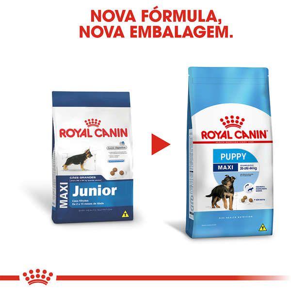 Ração Royal Canin Maxi Junior para Cães Filhotes de Raças Grandes de 2 a 15 Meses de Idade - 15 kg