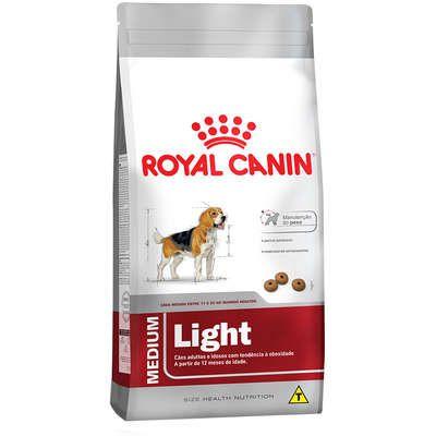 Ração Royal Canin Medium Light para Cães Adultos ou Idosos Obesos de Raças Médias - 15Kg