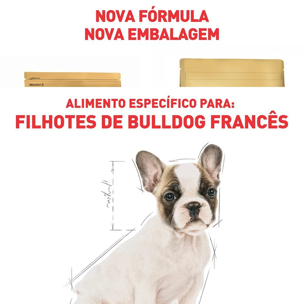 Ração Royal Canin para Cães Filhotes da Raça Bulldog Francês