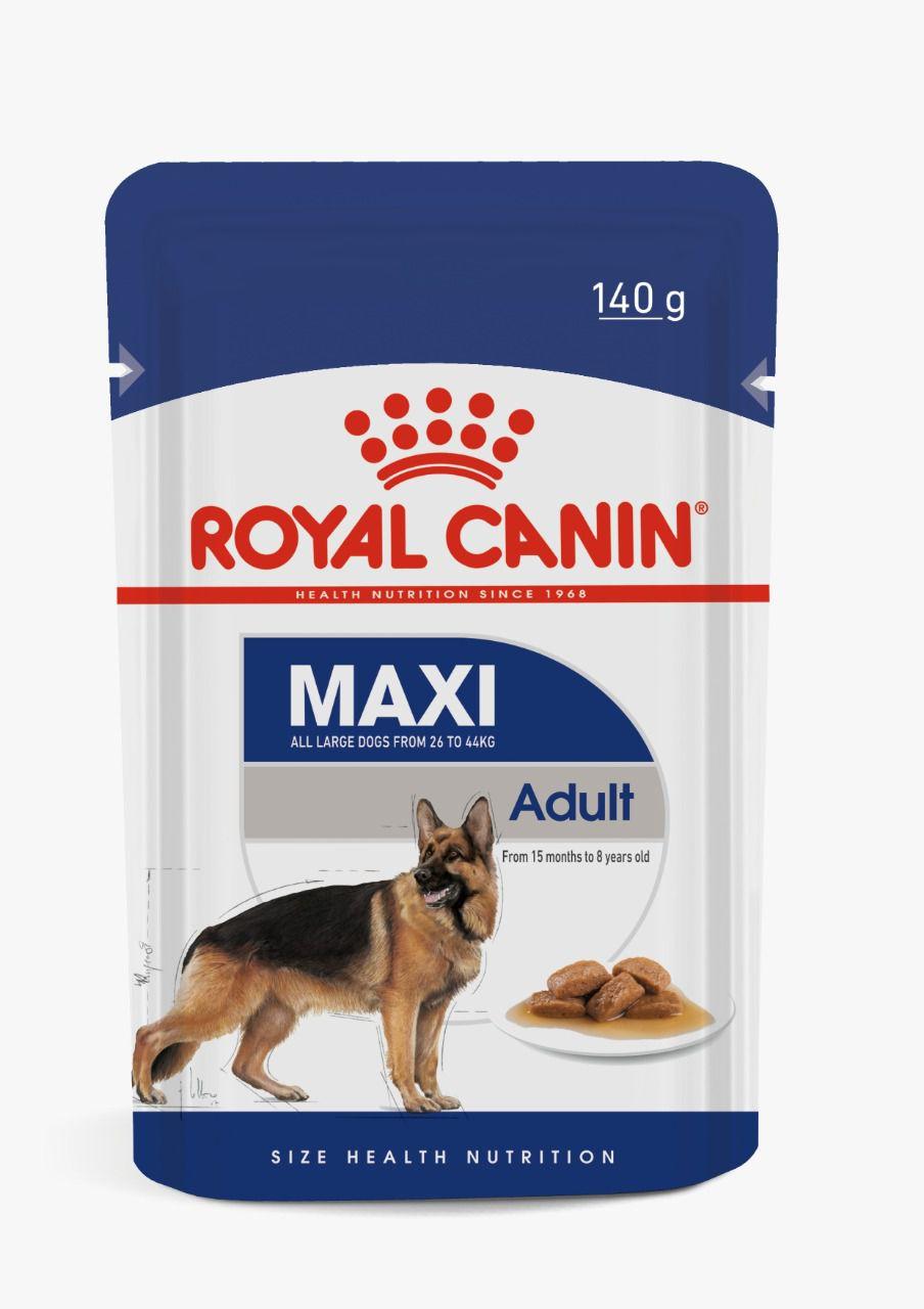 Ração Royal Canin Sachê Maxi Adult para Cães Grandes de 15 meses até 8 anos - 140 g