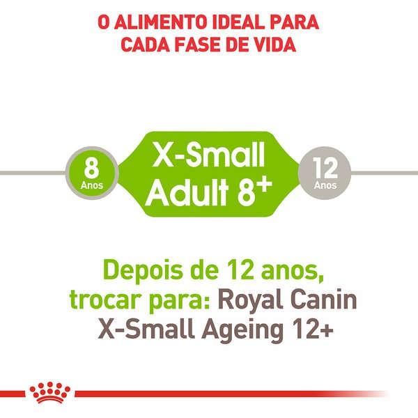 Ração Royal Canin X-Small Adulto 8+ para Cães Adultos e Idosos de Porte Miniatura