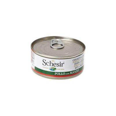 Ração Schesir Nature Dog Filés de Frango com Carne em Lata para Cães - 150 g