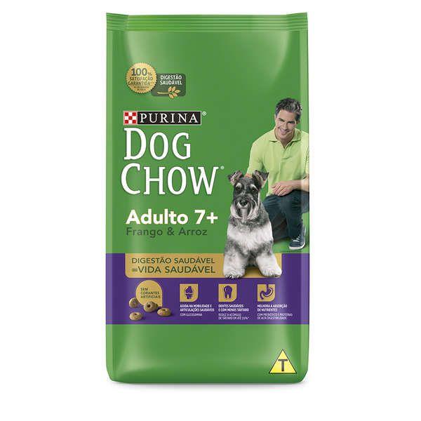 Ração Seca Nestlé Purina Dog Chow Adulto 7+ Frango e Arroz para Cães